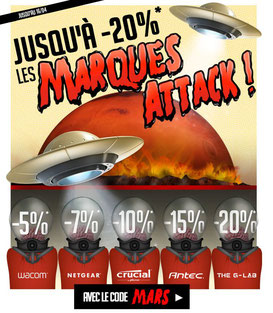 PROMO - 5 marques en promos, pendant tout le week-end, code : MARS ! Par ici : http://www.ldlc.com/n4067/#523d712af1ceb