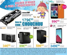 PROMO - 6 produits en promo, jusqu'à mercredi, code : CHOUCHOU ! Par ici : http://www.ldlc.com/#523d712af1ceb