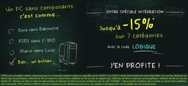 PROMO - Promo sur les composants ! Jusqu'à lundi, code : LOGIQUE ! Par ici : http://www.ldlc.com/n4064/#523d712af1ceb