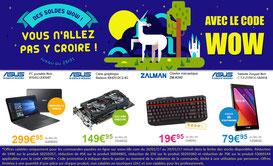 PROMO - 4 produits en promo jusqu'à dimanche ! Code WOW ! Par ici : http://www.ldlc.com/landing-AR201512150026-AR201612130027-AR201403240033-AR201510130087.html#523d712af1ceb