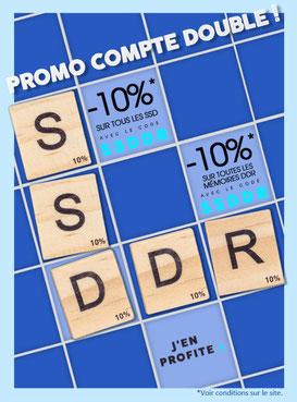 PROMO - 10% sur les SSD et les RAM ! Jusqu'au 23 juin 2017, code : SSDDR ! Par ici :http://www.ldlc.com/n4306/#523d712af1ceb