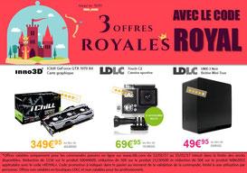 Jusqu'à dimanche, 3 produits à prix réduit, code ROYAL ! Par ici : http://www.ldlc.com/landing-AR201606130040-AR201602030169-AR201505060109.html#523d712af1ceb