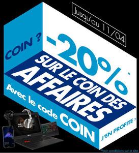 PROMO - 20% sur le Coin des Affaires ! Jusqu'au 11 avril 2017, code : COIN ! Par ici : http://www.ldlc.com/n2193/coin-des-affaires/#523d712af1ceb