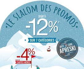 PROMO - C'est parti pour le slalom des promos ! Jusqu'à -12% sur 7 catégories. Jusqu'au 28 décembre 2017, code : APRESKI  https://www.ldlc.com/n4306/#523d712af1ceb