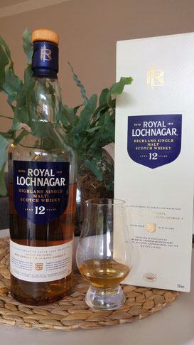 Royal Lochnagar 12 Jahre Flasche & Glas