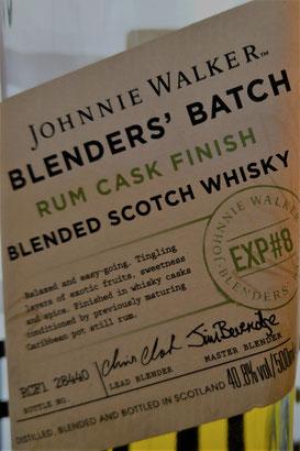 Johnnie Walker The Blenders' Batch Rum Cask Finish Etikett