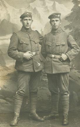 Das Sterbebild des Schützen Anton Lang. Sammlung Isonzofront.de