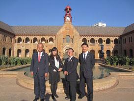 (From the left) Prof. YAMAGUCHI, Dr. NARISAWA, Mr. NAKAMURA, Prof. OKUMURA