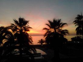 Genialer Sonnenuntergang im Lily Ann mit Olymp