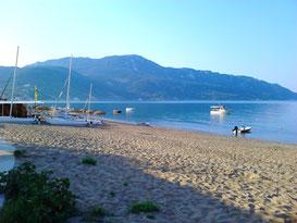 Ruhiges Sommerwetter in unserer Bucht