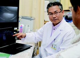 アメリカのベストドクター社に「医師に信頼される医師」として選ばれた長嶺医師=3日、石垣島徳洲会病院