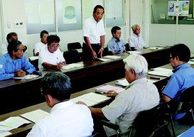 建産連と石垣市の意見交換会が開かれた=21日、市水道部庁舎