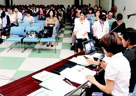 第36回保育研究発表会が開かれた=19日、大浜公民館