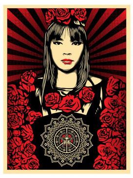 Shepard Fairey Rose Girl