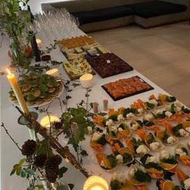 Involuté soirée privée buffet de mets