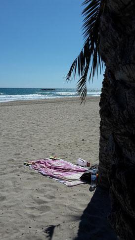 Platz an der Sonne - nach der Arbeit an den Strand.