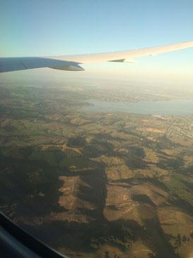 La Nouvelle-Zélande depuis mon avion.