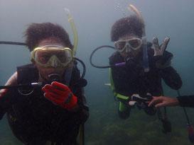 お子様でも参加可能です。水中世界を楽しめる体験ダイビング!