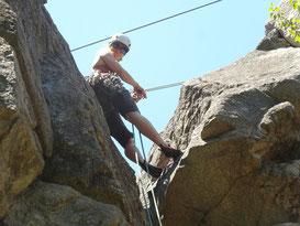Rock climbing in Kanada: Meine Führerin Hanna hat alles im Griff ;-)