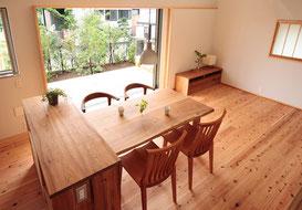 ダイニングの家具立川の家(設計:いろは設計室)