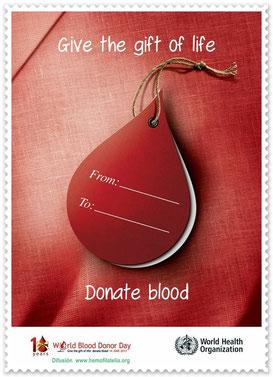 Dé el regalo de la vida, Donar Sangre.