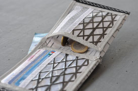 Sail wallet portafoglio in tessuto da vela