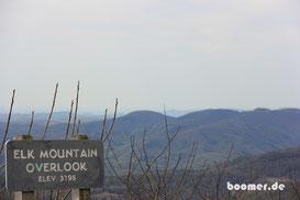 Auf dem Blue Ridge geht es hoch hinaus...