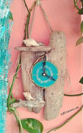 madera de mar, reloj madera, driftwood clock, driftwood, vymcreaciones, vymcreaciones.com, madera deriva, decoracion con palos