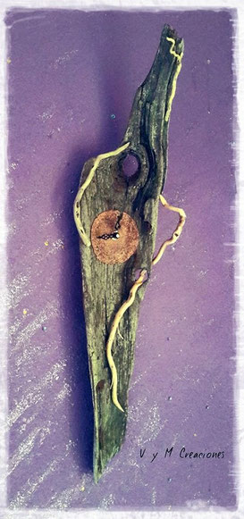 madera de mar, vymcreaciones, vymcreaciones.com. etsy, artesania, driftwood clock, driftwood, decoración ecologica
