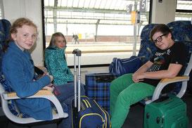 Nach drei tollen Tagen machten sich Catrin, Lina und Marcus auf den Weg nach Hause.