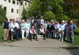Gruppenbild am Lutherhaus in Wittenberg