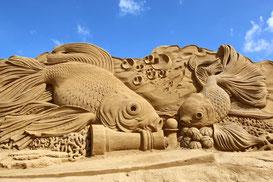 Impression vom Sandskulpturenfestival in Søndervig. Foto: VisitDenmark/PR