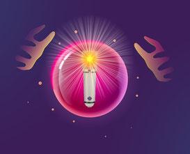 il microfono nella sfera di cristallo