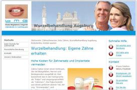 Ausführliche Informationen zum Thema Wurzelbehandlung, Zahnarztpraxis in Augsburg