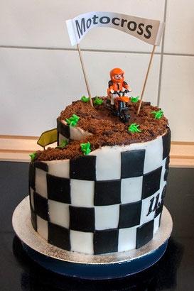 Motivtorte Motocross