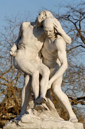 Il Buon Samaritano, François Sicard. Giardini delle Tuileries, Parigi