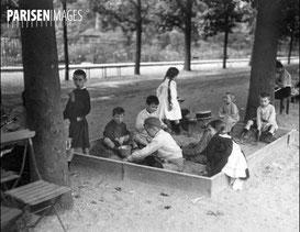 """Jardin des plantes : """"mon"""" bac à sable en 1911"""