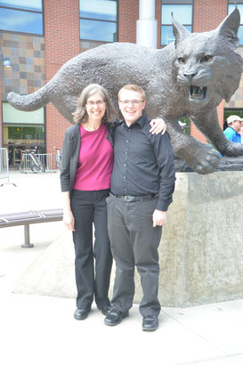 At Central Washington University for State Solo and Ensemble Contest.