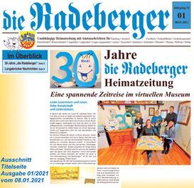 Virtuelles Museum der Heimatzeitung die Radeberger.  Start des Rundganges