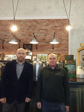 Herr Ivan Artiuch & Herr Eduard Politiko (Adebar-Reiseteam)