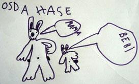 Bild: Erstes Schreiben im Kindergarten
