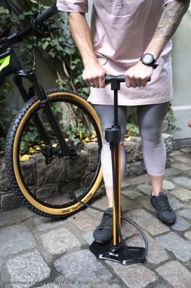Fahrradreifen optimal aufpumpen - Tipp vom pd-f