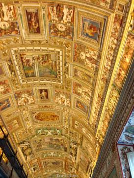 Goud plafond Vaticaan Museum