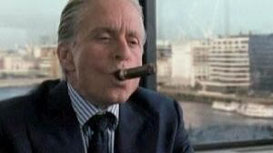 "Gordon Gekko alias Michael Douglas im Film ""Wall Street""."