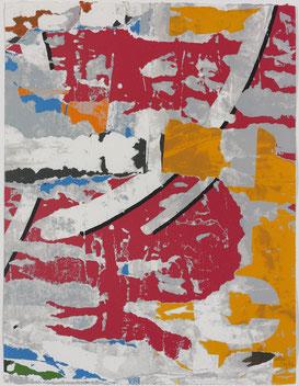 Jacques Villeglé, Décentralisation n°1 1991, sérigraphie, collection artothèque du musée des beaux-arts de Brest métropole ©ADAGP, Paris, 2017.