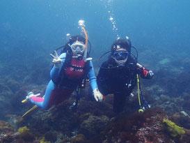水中撮影も行っているので、ダイビングの思い出ができます