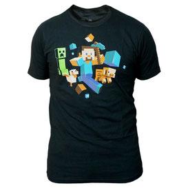 Minecraft Run Away! Glow in the Dark Premium Tee マインクラフトランアウェイ!グローインザダークTシャツ