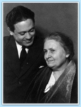 Maria und Mario Montessori (1938) / Quelle: http://www.montessoricentenary.org (bearbeitet)