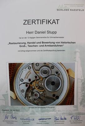 Restaurierung, Handel und Bewertung von historischen Groß-, Taschen- und Armbanduhren