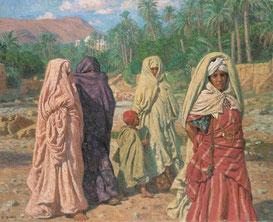 Женщины, гуляющие в Бу-Сааде (Алжир) (худ. Насреддин Дине)